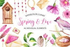 Watercolor Spring&Love Set Product Image 1