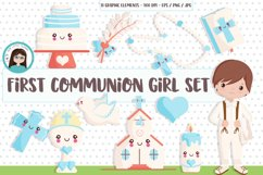 First Holy Communion Boy clipart SET Product Image 1