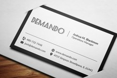 Black and Red Business Card Product Image 2