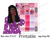 """Galentine's Day African American Stickers Box Size 2""""x1,5"""" Product Image 5"""