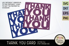 Thank You Card SVG - Thanks Card Cutting File, DXF, PNG, EPS Product Image 5