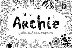 Archie typeface with Clipart Product Image 1