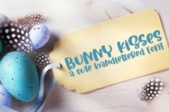 Web Font Bunny Kisses - A Cute Hand-Lettered Font Product Image 1