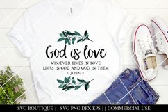 Christian Sublimation Designs - God Is Love PNG File Product Image 1
