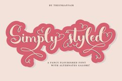 Simply Styled, a flourished ornamental script font Product Image 1