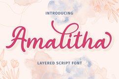 Amalitha - Layered Script Font Product Image 1