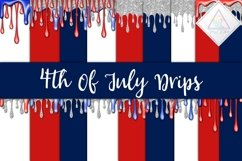4th Of July Drips Digital Paper Product Image 1