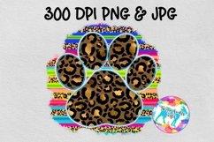 Serape leopard paw print - Sublimation Design Download Product Image 1