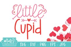 Little Cupid   Cute Valentine's Day Baby SVG Product Image 2