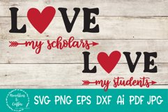 Love My Scholars SVG Product Image 1