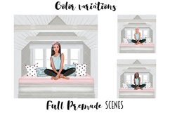 SELF CARE Clipart, Stay Home Fashion Illustration Product Image 2