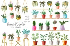 Watercolor House Plants Patterns Product Image 2