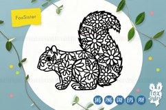 Floral squirrel svg, animals svg Product Image 1
