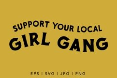 Support your girls SVG cut file for female empowerment Product Image 2