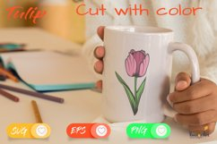 Tulip Flower - Cut File with 2 Layers Product Image 4