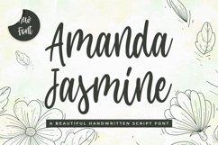 Modern Script Font - Amanda Jasmine Product Image 1