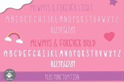 Always and Forever Font, Cute skinny tall font, girly font Product Image 4