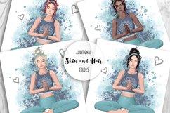 YOGA Digital Paper Pack - Pattern Fashion Illustration Product Image 9