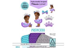 African Baby Princess Purple Turquoise Clipart Product Image 1