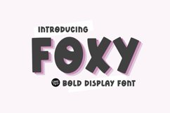 FOXY Bold Display Font Product Image 1