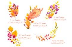 Fall decor clipart Watercolor autumn wreath Invitation decor Product Image 3