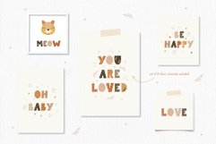 Alphabet Set, Boho Animal Letter Clipart, SVG, PNG, EPS Product Image 3