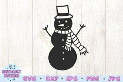 Snowman SVG   Christmas SVG   Holiday SVG Product Image 2