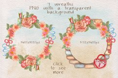 Home Sweet Home. Keys, floral watercolor wonderland collection Product Image 4