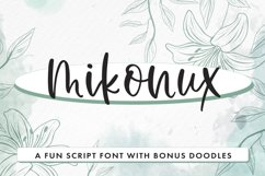 Mikonux A Fun Script Font With Doodles Product Image 1