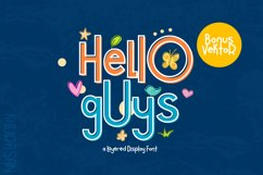 Hello Guys Layered Font Product Image 1