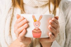 Cute cartoon bunny clipart. PNG. Product Image 1