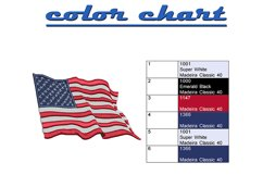 US Flag Wavy machine embroidery designs Product Image 2
