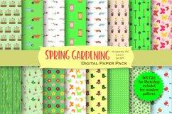 Spring Gardening Digital Paper Pack Product Image 1