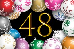 Happy 48 Christmas Ball in 8 Colors Product Image 1