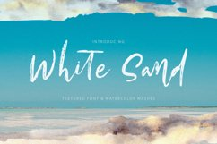 White Sand. Hand Drawn Textured Font Product Image 1