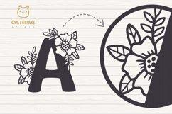 Floral alphabet svg, Floral Monogram letters Bundle, Wedding Product Image 5