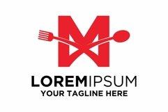 Letter M Food logo design Product Image 1
