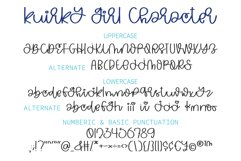 Kuirky Girl - A kuirky monoline handwritten font Product Image 2