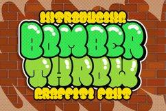 Bomber Throw Graffiti Font Product Image 1