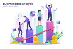 Business Data Analysis concept flat illustration Product Image 1