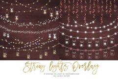 String Lights Clipart, Mason jar Chalkboard Party Lights Product Image 4