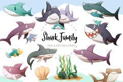 Shark Family Illustrations Product Image 1