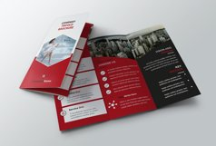Trifold red Brochure Product Image 4