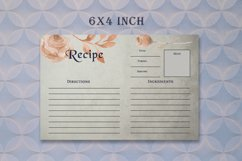 Brown Floral Recipe Card Template Product Image 4
