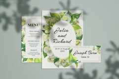 Jasmine flowers and leaves. Watercolor clip art. Product Image 5