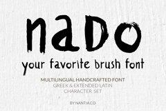 naDo Font | The Brush Font Product Image 2