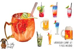 Alcohol Drink Watercolor Clipart Product Image 2
