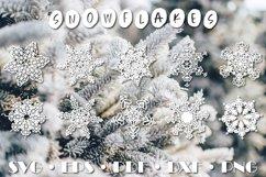Christmas snowflake SVG ornament Product Image 1