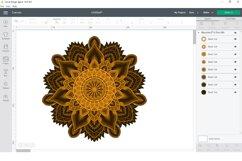Flower mandala SVG, DXF cut files, 3d layered mandala svg. Product Image 5