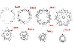 Flower mandala SVG, DXF cut files, 3d layered mandala svg. Product Image 6